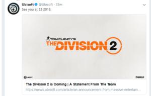 Resultado de imagen de the division 2 twitter
